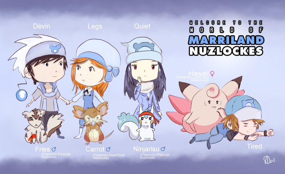 ALLLOCKES World Of Marriland Nuzlocke Chibis By SophieLou On - Marriland state