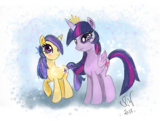 Twilight Sparkle and Nova Gleam by Friggin-Artwork