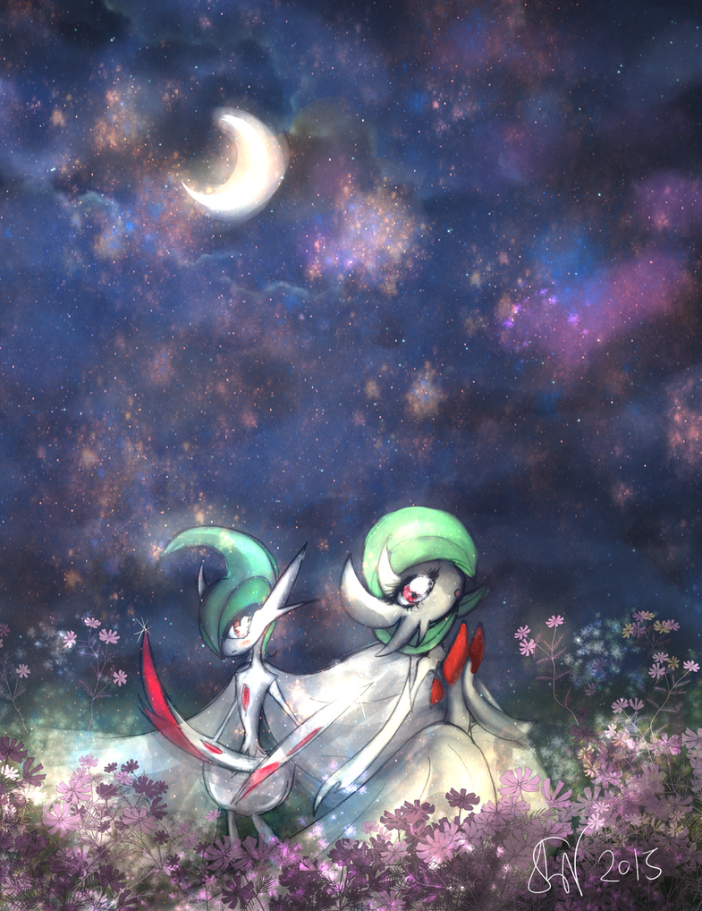 Midnight Romance (Mega Gardevoir x Gallade) by Sophie-Lou
