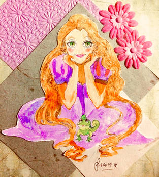 Rapunzel (Scrapbooking Series) by Friggin-Artwork