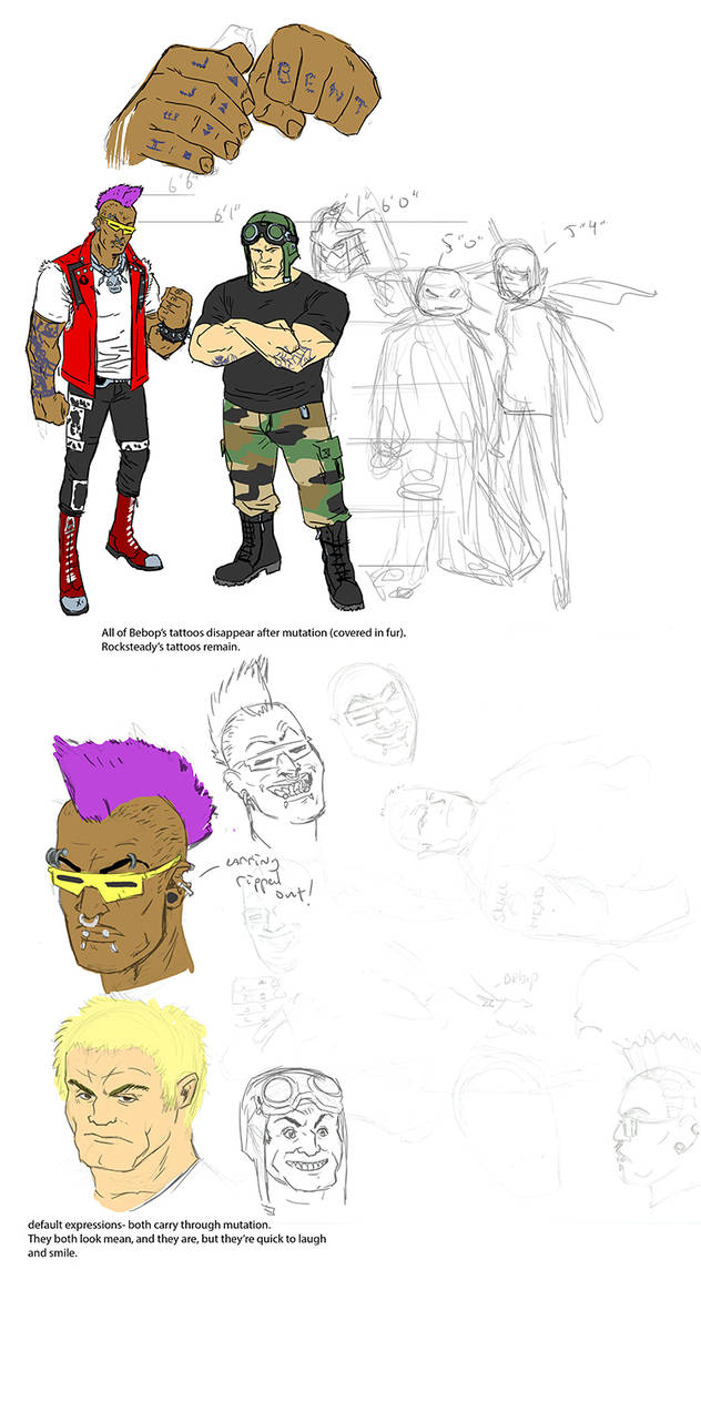 Bebop And Rocksteady Human
