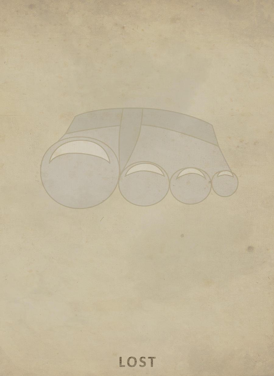 Minimalist Lost Poster by premedito