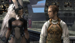 Fran and Balthier in ff12