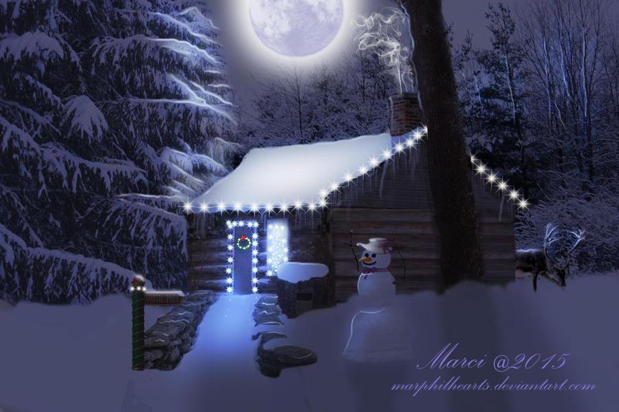 Northwoods Christmas Cabin