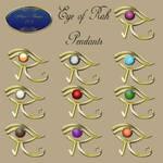Eye of Rah Pendants by marphilhearts