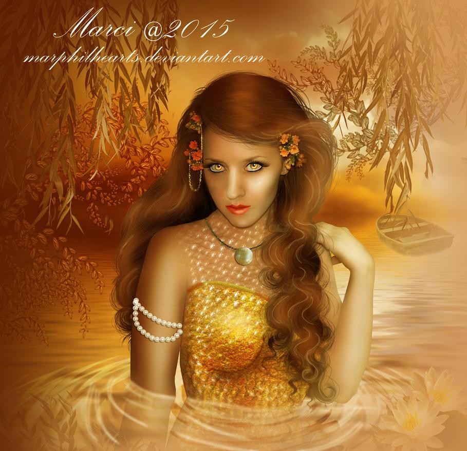 Autumn Mermaid by marphilhearts