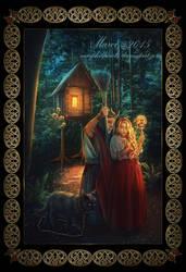 Baba-Yaga and Vasilisa the Beautiful by marphilhearts