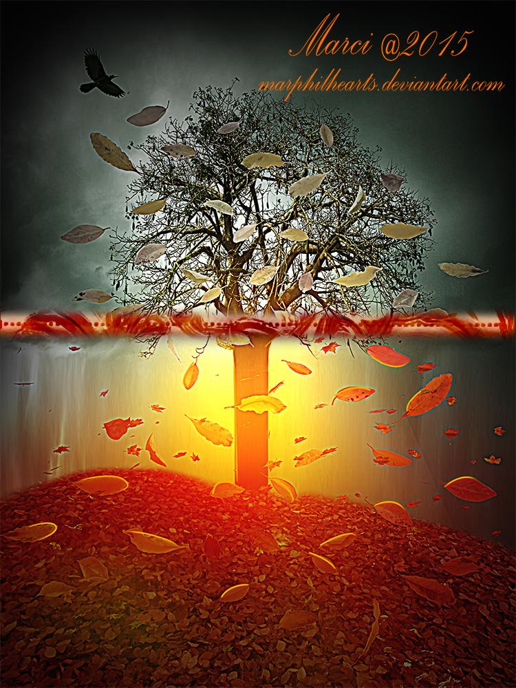 Painting Autumn by marphilhearts