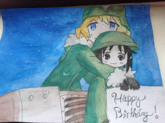 Girl's Last Tour birthday card  by EllaLira