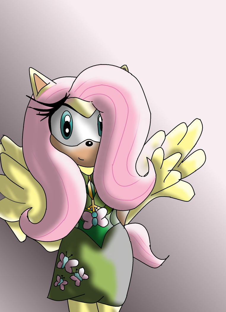 Fluttershy As A Sonic Character by SammyTheDoodler
