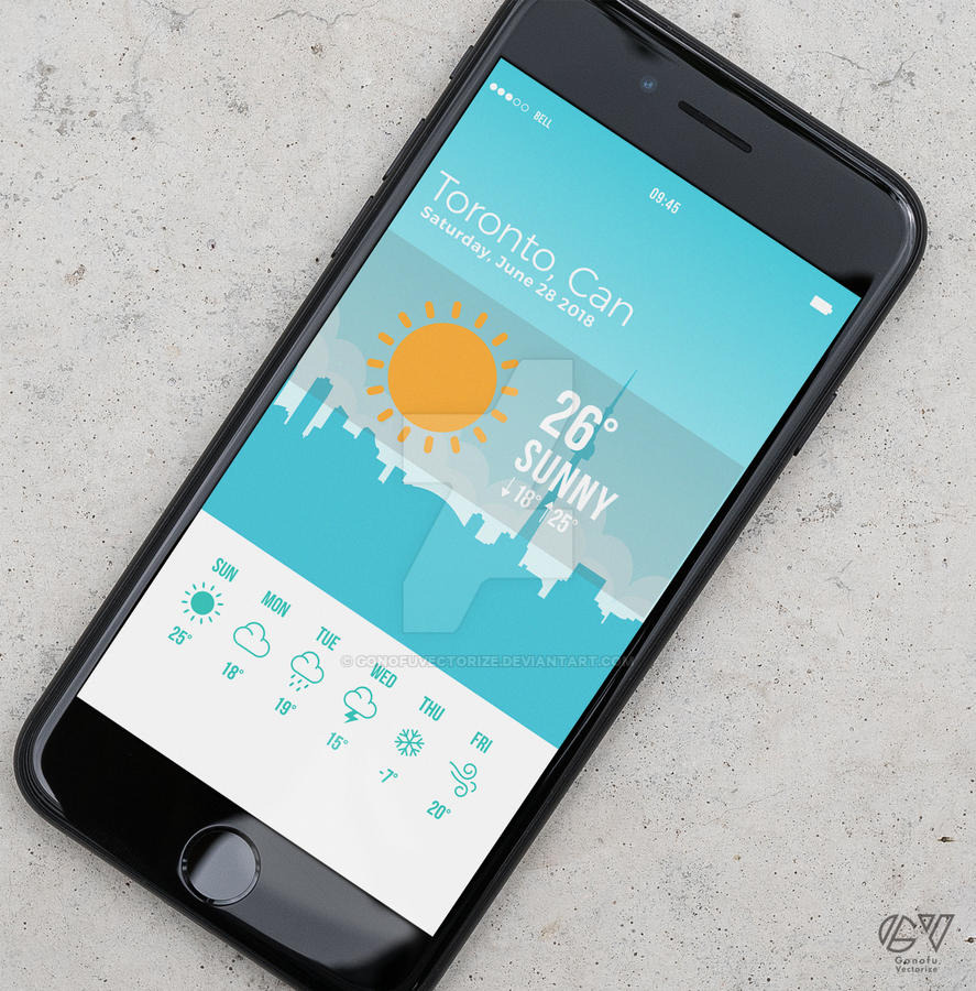 weather apps Ui design by GonofuVectorize on DeviantArt