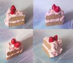 Pink cream and strawberries