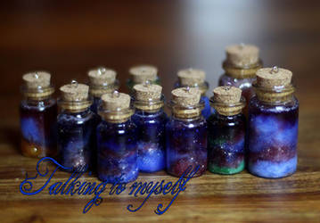Galaxy bottles by Charly-chan