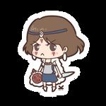 [Commission] Chibi Princess Mononoke