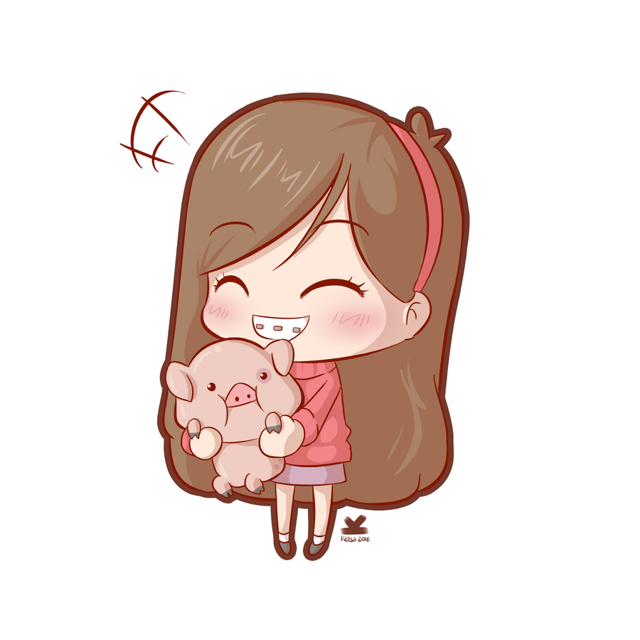 [Commission] Mabel and Waddles by Kelsa20