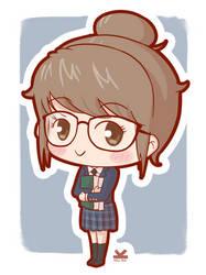 [Commission] Elyssa - School Girl Sticker by Kelsa20
