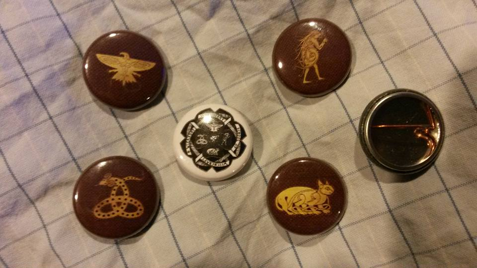 Ilvermorny house pins by Dark-Sith-Angel