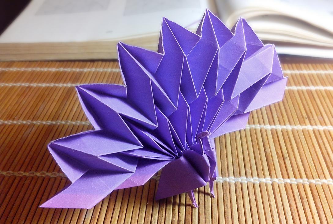 Origami Peacock by Momotakama