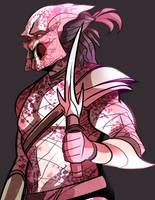Sketchin' a predator w/ a knife by squarerootofdestiny