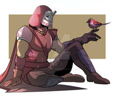 Cayde-6 and sparrow