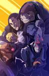 Mass Effect OC Group (COMMISSION)