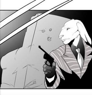 White Rabbit Noir Sketch