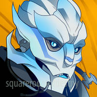Lady Turian Icon (COMMISSION) by squarerootofdestiny