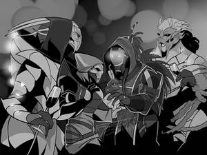 Turian/Quarian Party (COMMISSION)