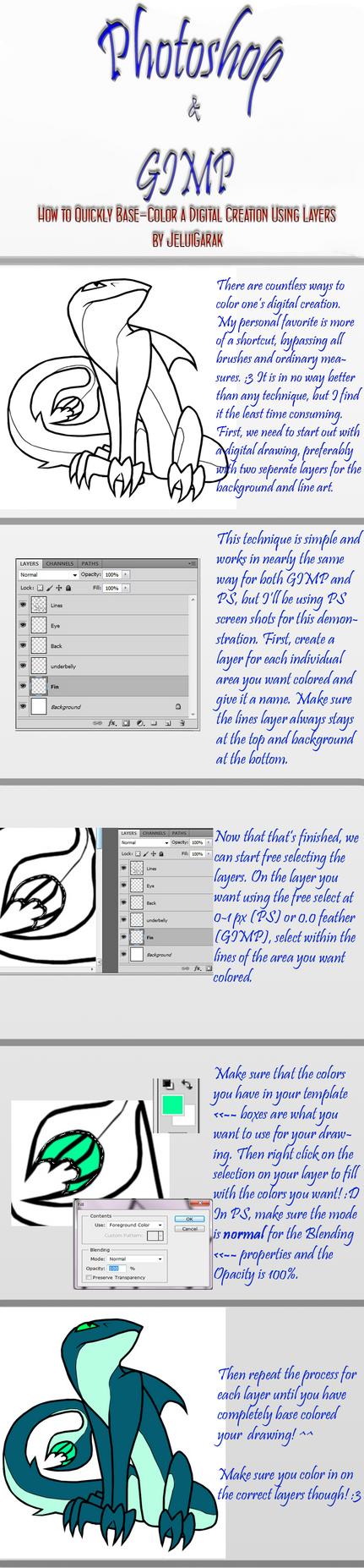 Line art using gimp : Ps gimp tutorial digital color by bejuled on deviantart