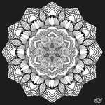 Lotus and flower (coloring page)