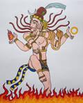 Lord Shiva cosmic dance by aravindhtr
