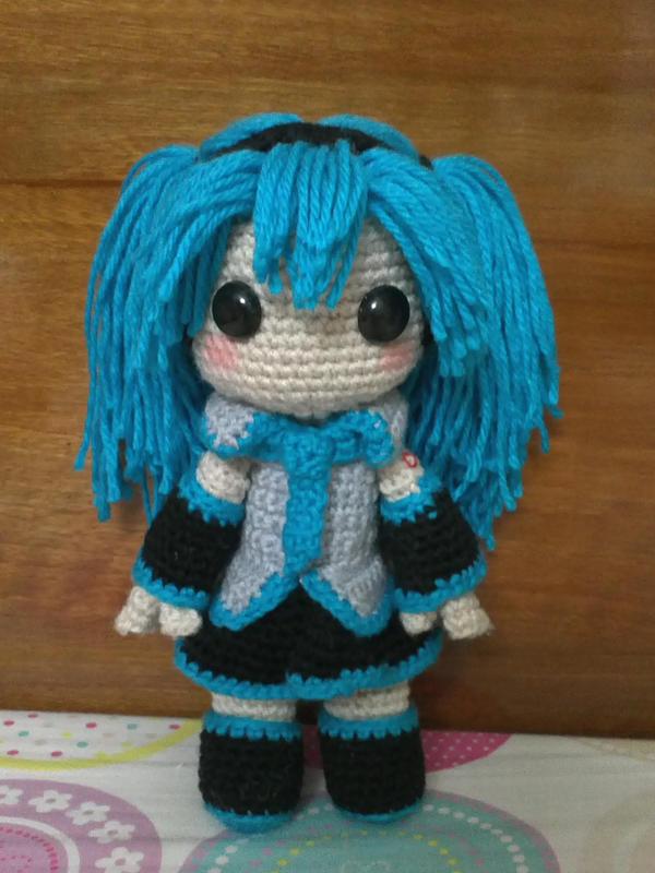 Hatsune Miku sackgirl doll by NVkatherine