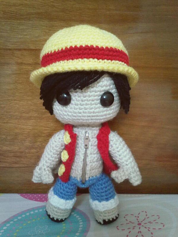 Amigurumi One Piece Doll : Luffy sackboy doll (One Piece) by NVkatherine on DeviantArt