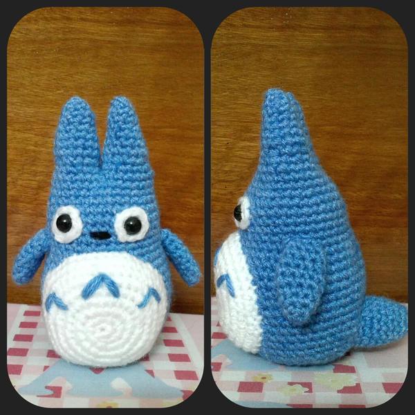 Blue Totoro amigurumi by NVkatherine on deviantART