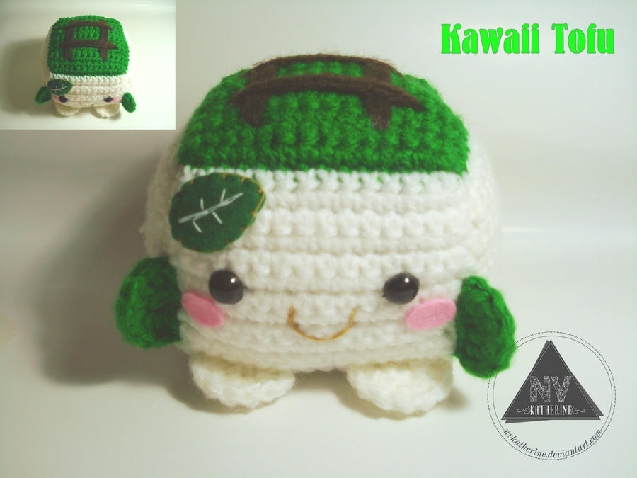 Amigurumi Kawaii Free Patterns : Kawaii Tofu amigurumi FREE PATTERN by NVkatherine on ...
