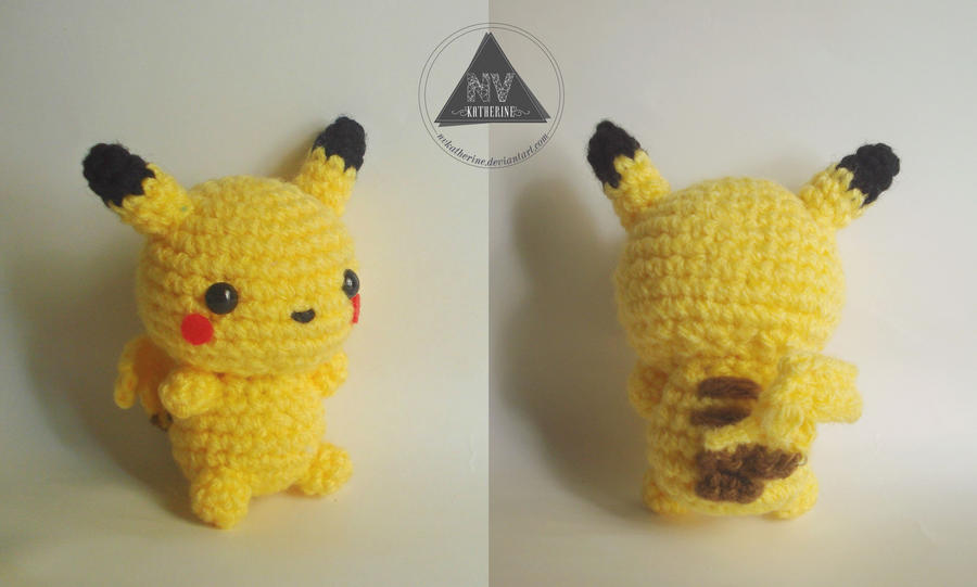Amigurumi Pokemon Patterns Free : Chibi pikachu amigurumi by nvkatherine on deviantart