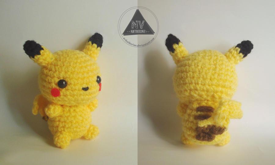 Pokemon Chibi Amigurumi Pattern : Chibi Pikachu amigurumi by NVkatherine on DeviantArt