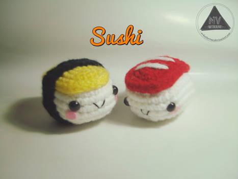 Sushi amigurumi [FREE PATTERN + TUTORIAL]