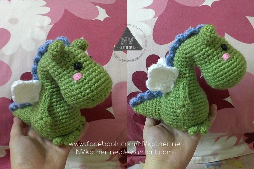 Amigurumi Dragon Pattern Free : Chuppy Dragon amigurumi by NVkatherine on DeviantArt