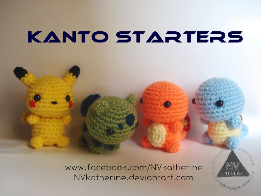 Kanto Starter Chibi Pokemon by NVkatherine