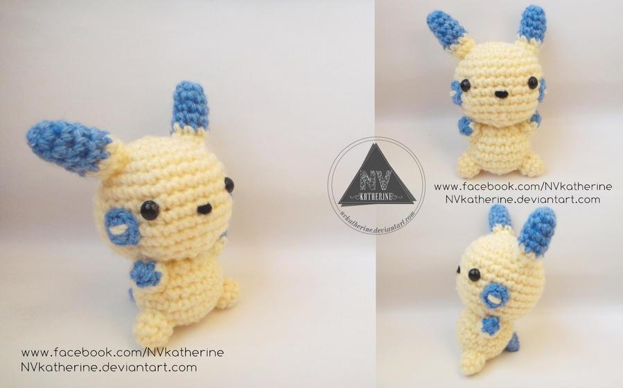 Chibi Minun amigurumi by NVkatherine