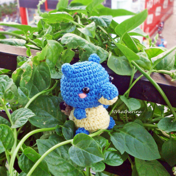 [FREE SHIPPING] Chibi Blastoise amigurumi by NVkatherine