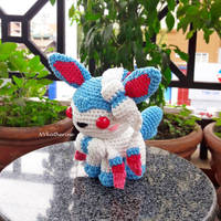 [DISCOUNTED SHIPPING] Shiny Sylveon amigurumi