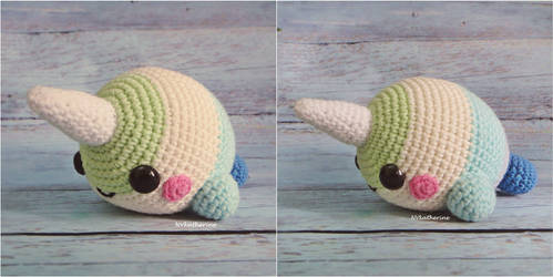 Ocean the Narwhal amigurumi