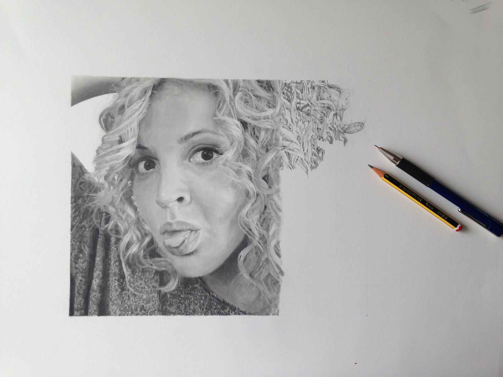 Self portrait in pencil stage 4 by s messias