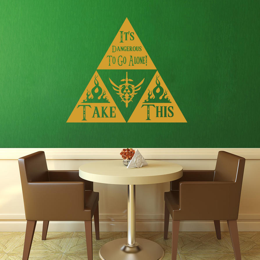 Zelda - Take This Wall Decal by GeekeryMade ... & Zelda - Take This Wall Decal by GeekeryMade on DeviantArt