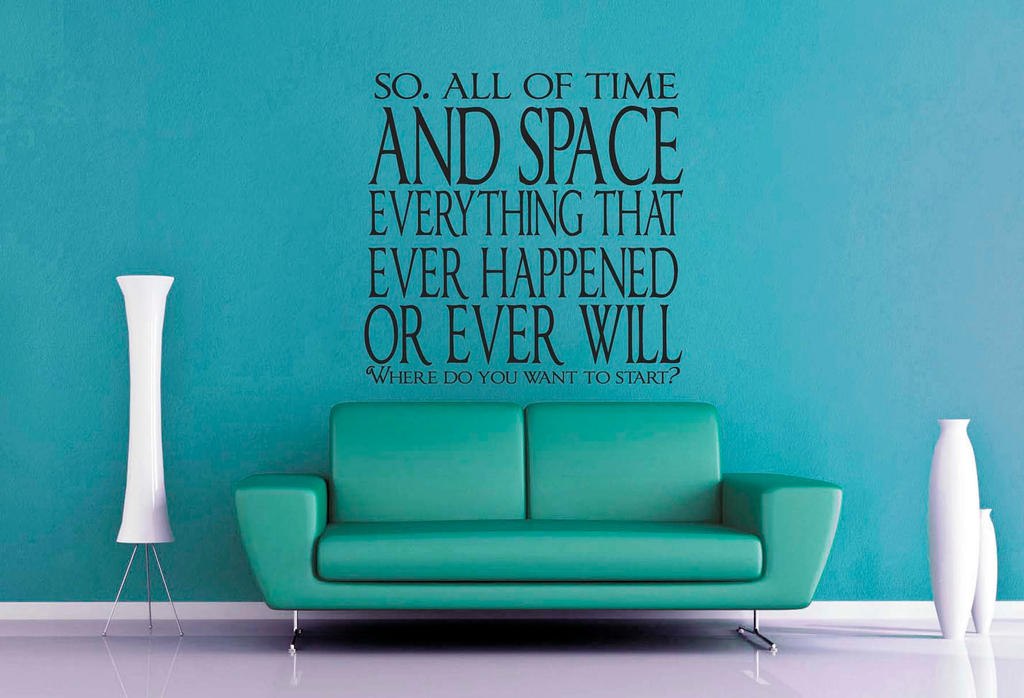 Dr Who   All Of Time And Space Wall Decal By GeekeryMade ...
