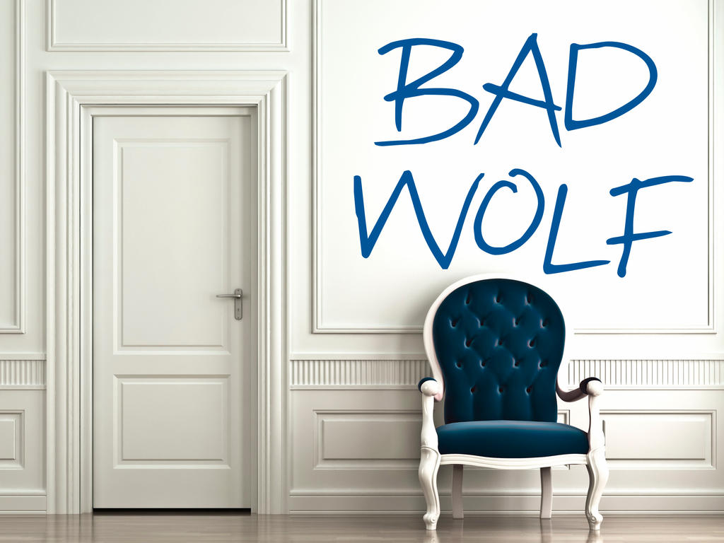 Dr who bad wolf wall decal by geekerymade on deviantart dr who bad wolf wall decal by geekerymade amipublicfo Choice Image