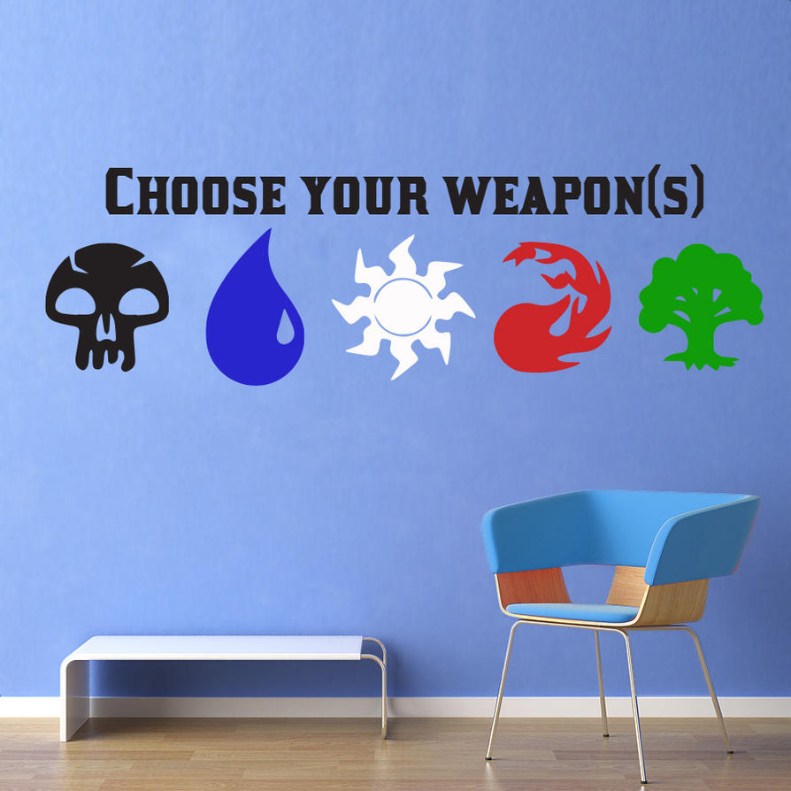 Magic The Gathering Choose Your Weapon Wall Decal By
