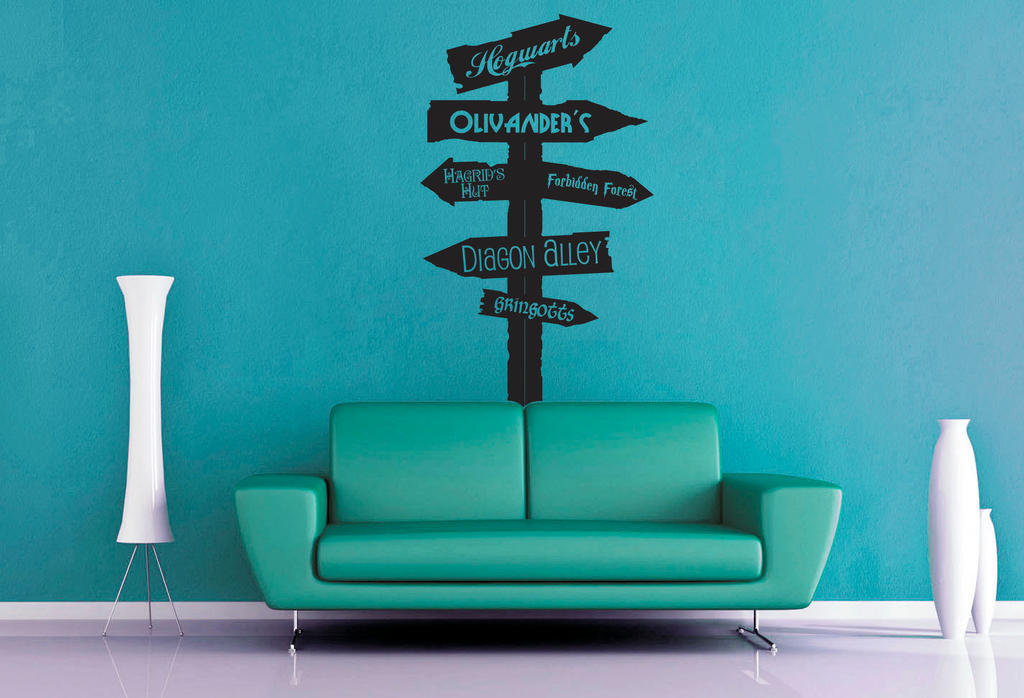Harry potter road sign wall decal by geekerymade on deviantart Www home decor ideas